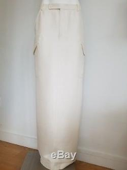 Ralph Lauren Purple Label White Cream Dress Long Maxi Skirt New Size 8 New