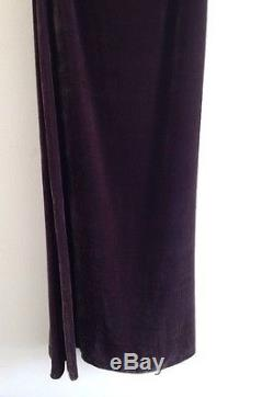 Rare EMERSON FRY High-Waisted Plum Velvet Column Skirt 00 xs reformation aritzia