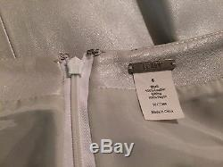 Rare J. CREW Collection Formal Leather Straight Maxi Skirt Pearl Long Chic Sz 6
