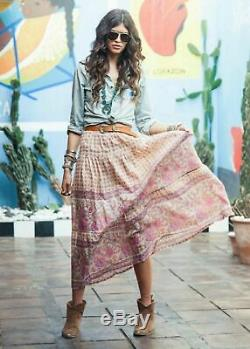 Rare Spell the Gypsy Collective Designs Desert Rose Maxi Skirt Blush Sz S small