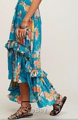 Rare Unicorn Spell & The Gypsy Collective Teal Jagger Skirt Size Medium GORGEOUS