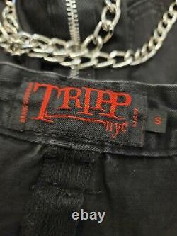 Rare Vintage y2k Tripp NYC Mens One leg pant long maxi chain zip grommet skirt S