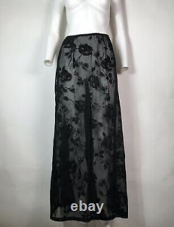 Rare Vtg Dolce & Gabbana Black Sheer Lace Skirt S