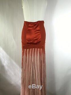 Rare Vtg Jean Paul Gaultier Copper Corset Skirt S