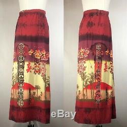 Rare Vtg Jean Paul Gaultier Jeans Japanese Print Long Skirt S