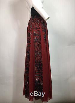 Rare Vtg Jean Paul Gaultier Red Mesh Long Skirt L