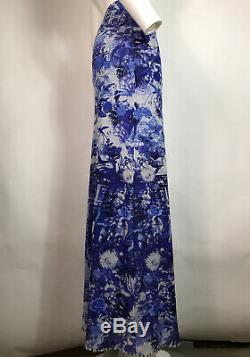 Rare Vtg Jean Paul Gaultier Soleil Blue Palm Flamingo Print Long Mesh Skirt M