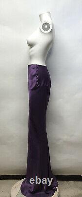 Rare Vtg John Galliano Long Purple Side Button Skirt XS