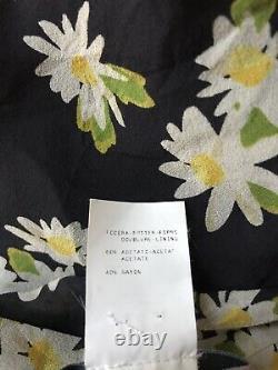 Rare Vtg Moschino Daisy Print Long Silk Skirt S