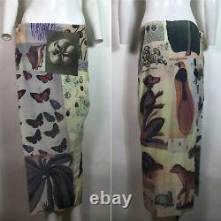 Rare Vtg Vivienne Westwood Gold Label Butterfly Print Skirt M