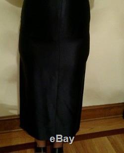 Rare vintage Chanel fishtail navy maxi skirtsize 34