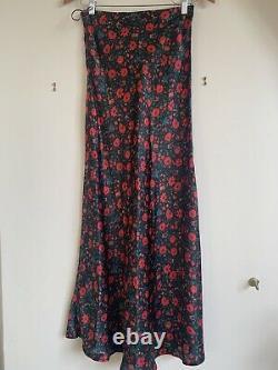 Realisation Par Joni Black Batik Floral Skirt