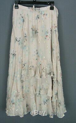 Rebecca Taylor Silk-Blend Maxi Skirt MSRP $495 Size 10 # 6A 53 NEW