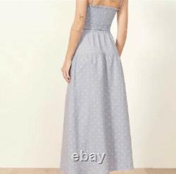 Reformation Kitty $218 Linen 2-piece Polka Dot M Skirt S Top Vintage Boho Urban