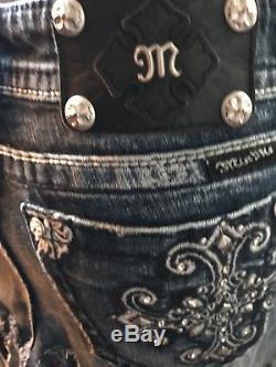 Reupscaled Ooak Patriotic Tye Dye Miss Me Jean Skirt