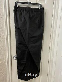 Rick Owens Long Black Maxi Skirt Sz 44 Size 10 Us