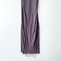 Rick Owens Womens Sz US 10 Dark Shadow Brown Grey Hue Maxi High Waist Skirt NEW