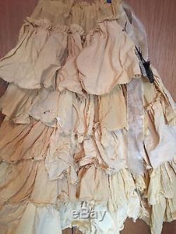 Ritanotiara Osfa W Magnolia Bow Cream Pearl Ruffle Maxi Gypsy Skirt Long Prairie