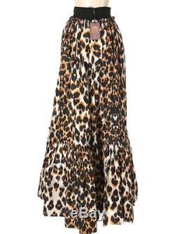 Roberto Cavalli Maxi Skirt Silk Dual Pockets Multi 40 European SML NWT $3,345.00