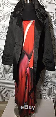 Roberto Cavalli Silk Geometric Mermaid Maxi-Long Skirt Dress Italy Sz. 44 E-106
