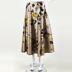 Rochas Floral Print Maxi Skirt SZ 46