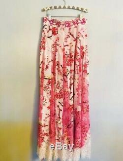 Rococo Sand Pink Floral Maxi Skirt. Size S. NWT. Retail- $450