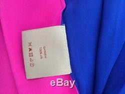 Roksanda Ilincic 100% Silk Maxi Skirt, New, Size 8 Hot Pink /Electric Blue