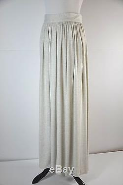 Roksanda Ilincic Gray High Waist Jersey Blend Maxi Skirt M/L