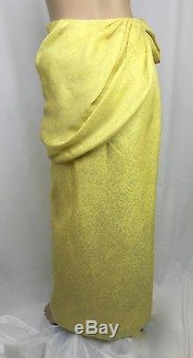 Rosie Assoulin Hustle & Bustle Draped Jacquard Silk Maxi Skirt NWT $3395 Sz 4