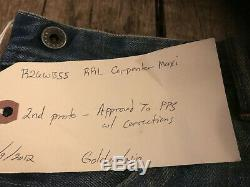 Rrl double rl Women's patch long skirt SZ 29 VINTAGE NEW bucket back maxi pockt