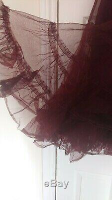 Rundholz Silk Tulle Maxi Skirt Lagenlook Small Waist 26 36 VGC Lagenlook