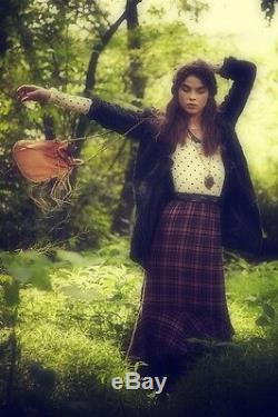 S Free People FP One Plaid Maxi Skirt Heritage India Cotton Grunge Coat Dress