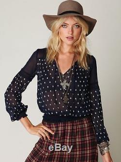 S Free People FP One Plaid Maxi Skirt Raspberry India Cotton Grunge BoHo Dress