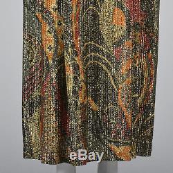 S Vintage 1970s 70s Long Sleeve Bohemian Maxi Skirt Two Piece Boho Dress Elegant