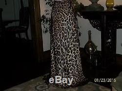 SALE! NWOT, Roberto Cavalli Silk Leopard Print, Maxi Skirt/ Dress Size 40
