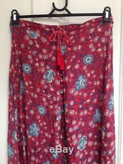 SPELL DESIGNS Folk Town Button Down Maxi Skirt Wine Size S