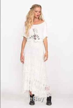 Spell & The Gypsy Collective Ophelia Lace Maxi Skirt White Size M Nwt Sold Out