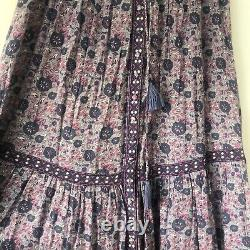 SPELL & THE GYPSY KOMBI Button Down Maxi Skirt In Lavender, Size S