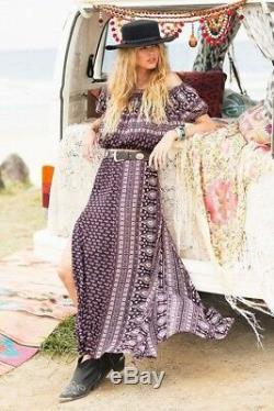 SPELL and the Gypsy Gypsiana Boho Maxi Print Long Skirt Sz S