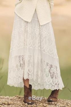 SPELL white lace OPHELIA MAXI skirt MEDIUM SIZE 10 gypsy boho BNWT sold out
