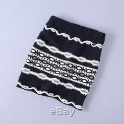 SSD6 Runway autumn fashion knitting long-sleeve wave patterns sweater+mini skirt