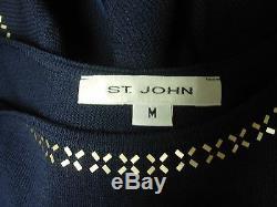 ST. JOHN EVENING 3PC LONG KNIT MAXI SKIRT SUIT With METALLIC DETAIL