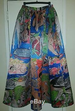 STUNNING Rare Alice + Olivia Domingo Zapata Full Length Maxi Skirt. Size 4