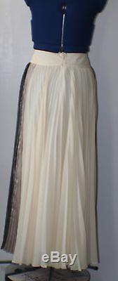 Sachin Babi Noir Metallic Pleated chiffon Maxi skirt, 10, Retail $695