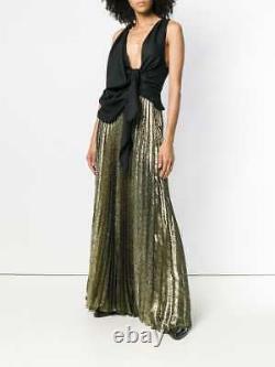 Saint Laurent Plisse Lurex Jacquard Long Skirt Size Fr 40 Uk 12 Us 8 Rrp £1985