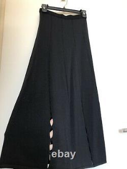 Sandro Black Woven Knit Long Skirt Size 1