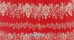 Self-Portrait Flower Spell Maxi Skirt in Red size UK10
