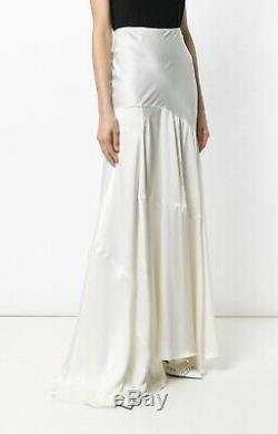 Simone Rocha Ivory Silk-Satin Draped Asymmetric Maxi Skirt. UK 8 SS18 Runway