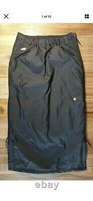 Skhoop Black Down Skirt Long Maxi Insulated Winter Ski Side Zip S Pre Owned