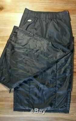 Skhoop Black Down Skirt Long Maxi Insulated Winter Ski Side Zip XS Pre Owned
